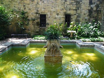 Photograph - Alamo Courtyard Fountain by The GYPSY