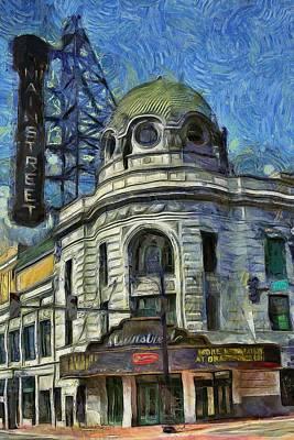 Kansas Oil Painting - Alamo Drafthouse Mainstreet Cinema  by L Wright