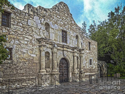 Alamo Hdr Art Print