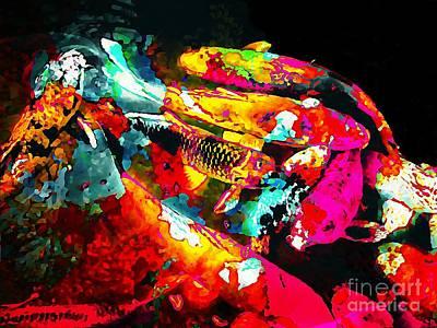 Koi Digital Art - Alamo Koi II by Bonnie Chapa
