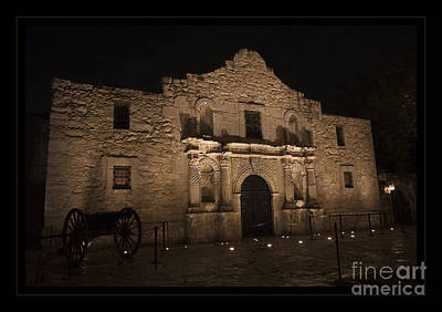 Alamo Mission In San Antonio Art Print