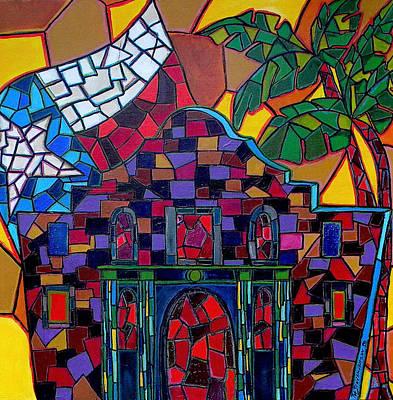 Alamo Mosaic Art Print by Patti Schermerhorn