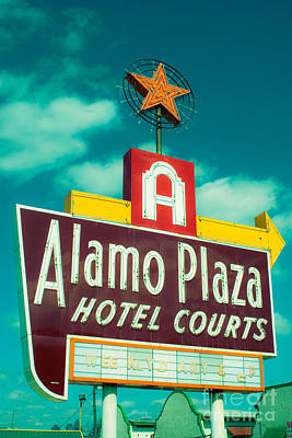 Squint Photograph - Alamo Plaza Hotel Dallas by Sonja Quintero