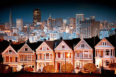 Photograph - Alamo Square by Celso Diniz
