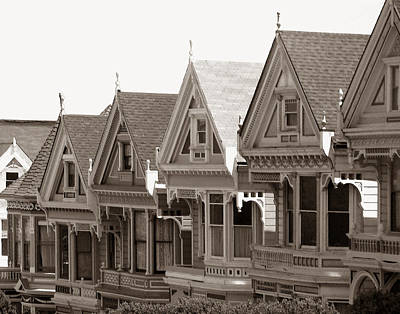 Alamo Square - Victorian Painted Ladies 2009 Art Print by Connie Fox