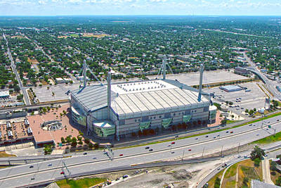 Photograph - Alamodome by C H Apperson