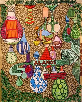 Drawing - Alamos Lights by Gregory Carrico