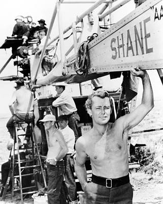 1950 Movies Photograph - Alan Ladd In Shane  by Silver Screen