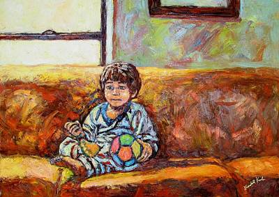 Painting - Alan On The Couch by Kendall Kessler