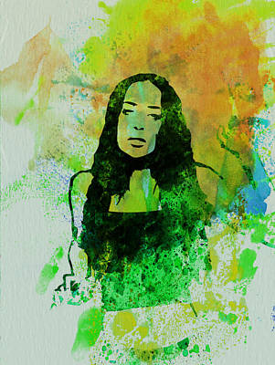 Rock Music Painting - Alanis Morissette by Naxart Studio