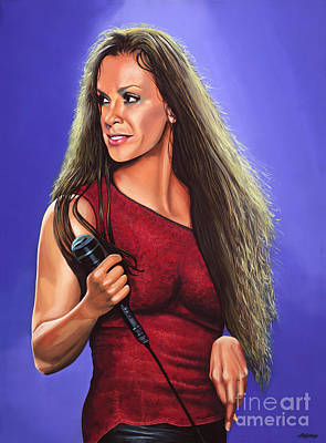 Singer Songwriter Painting - Alanis Morissette 2 by Paul Meijering