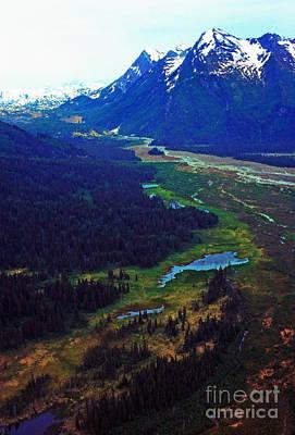 Land Of The Midnight Sun Photograph - Alaska Aerial by Thomas R Fletcher
