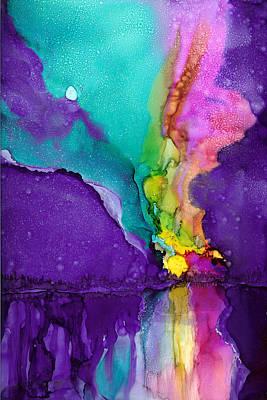 Painting - Alaska Aurora Borealis by Karen Mattson