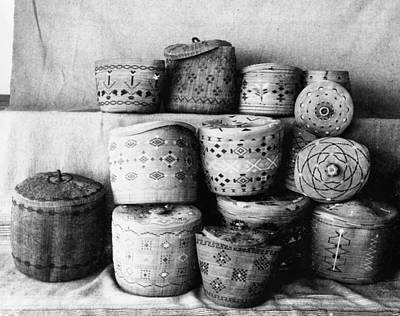 Aleut Photograph - Alaska Baskets, C1899 by Granger