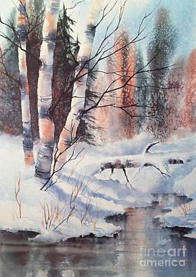 Alaska Birch II Art Print by Teresa Ascone