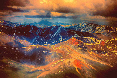Painting - Alaska From The Air by John Haldane