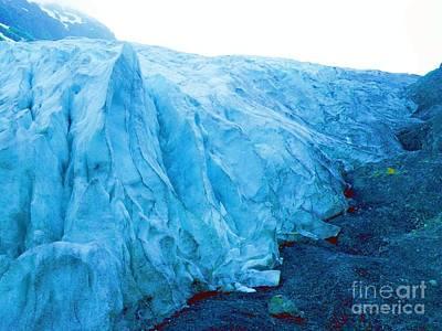 Photograph - Alaska Glacier  by Vicky Tarcau