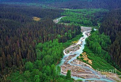 Land Of The Midnight Sun Photograph - Alaska Green Aerial View by Thomas R Fletcher