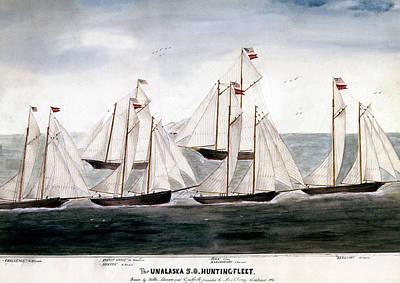 Painting - Alaska Hunting Fleet, 1896 by Granger