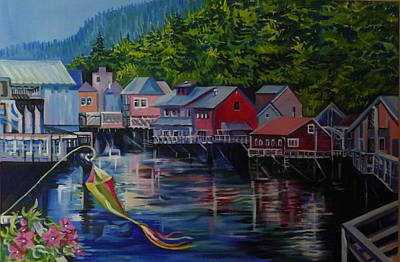 Alaska. Ketchikan Art Print by Anna  Duyunova