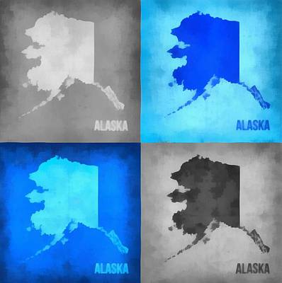Alaska Map Art Art Print by Dan Sproul