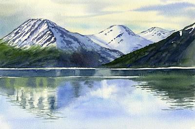 Alaska Mountain Reflections Art Print by Sharon Freeman