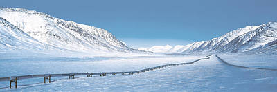 Dalton Highway Photograph - Alaska Pipeline Brooks Range Ak by Panoramic Images
