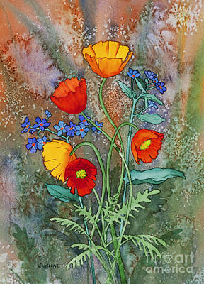 Alaska Poppies And Forgetmenots Art Print