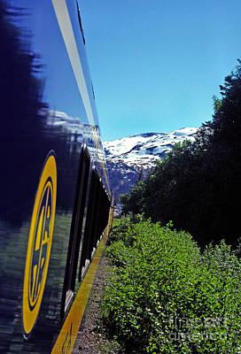 Alaska Railroad Anchorage To Whittier Route Art Print