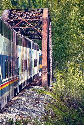 Photograph - Alaska Railroad by John Haldane
