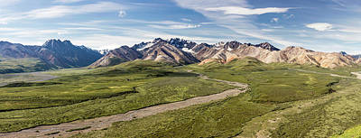 Alaska Range From Polychrome Pass Art Print by Panoramic Images