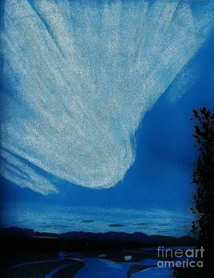 Sunset Drawing - Alaska Sky by D Hackett