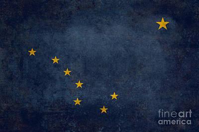 Dipper Digital Art - Alaska State Flag by Bruce Stanfield