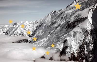 Alaska State Flag Denali Art Print
