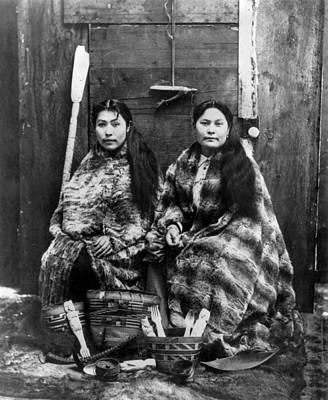 Tlingit Photograph - Alaska Tlingit Women, C1900 by Granger