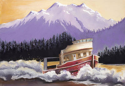 Painting - Alaskan Boat Adventure by Dale Bernard
