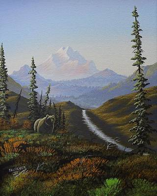 Painting - Alaskan Brown Bear by Richard Faulkner