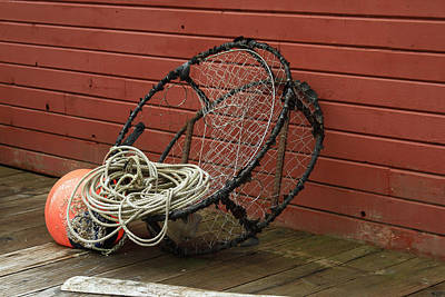 Photograph - Alaskan Crab Trap by Ronald Olivier