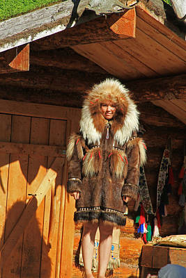 Photograph - Alaskan Eskimo Winter Coat by Ronald Olivier