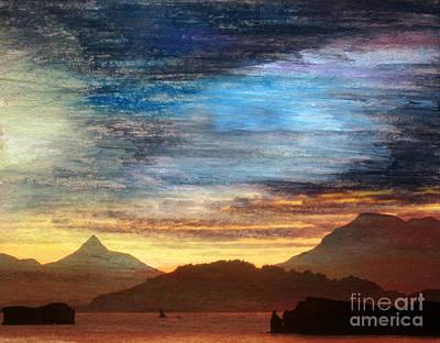 Mountainous Mixed Media - Alaskan Evening by R Kyllo