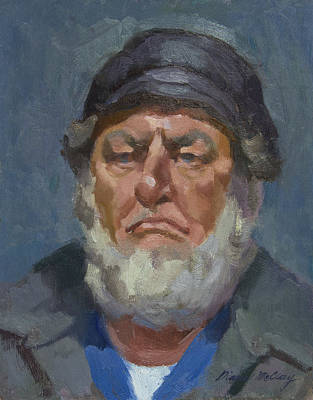 Bearded Man Painting - Alaskan Fisherman by Diane McClary