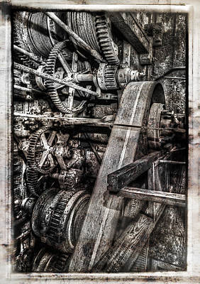 Alaskan Gold-dredge Bucket Gear Train Art Print by Daniel Hagerman