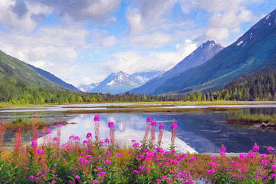 Alaskan Horizons Oil Painting Art Print