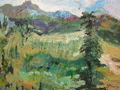 Art Print featuring the painting Alaskan Landscape by Shea Holliman