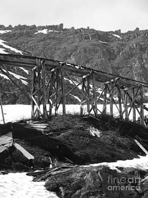 Alaskan Mine Track Art Print by Dani Abbott