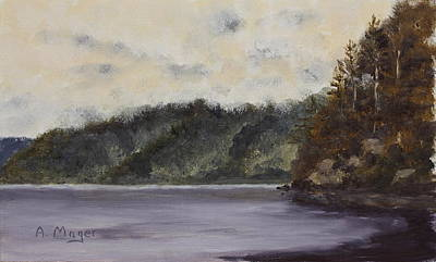Painting - Alaskan Mist by Alan Mager