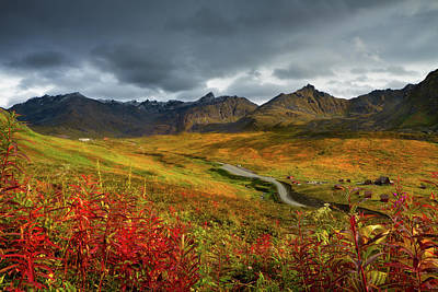 Photograph - Alaskan Mountains And Tundra In Autumn by Adria  Photography