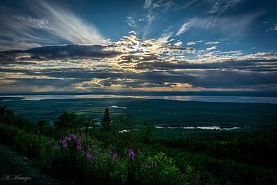 Alaskan Summer Sunset Art Print