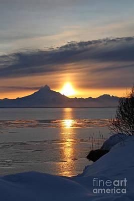 Alaskan Sunset Art Print by Rick  Monyahan