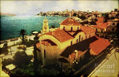 Corfu Digital Art - Albanian Riviera Sarande by Lianne Schneider